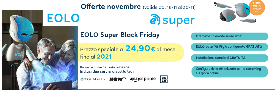 EOLO PROMO BLACK FRIDAY