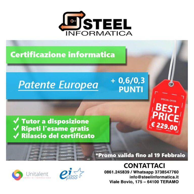 Certificazioni: miglior prezzo fino al 19 Febbraio!