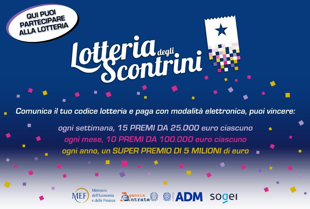 LOTTERIA SCONTRINI: istruzioni e premi per acquirenti!