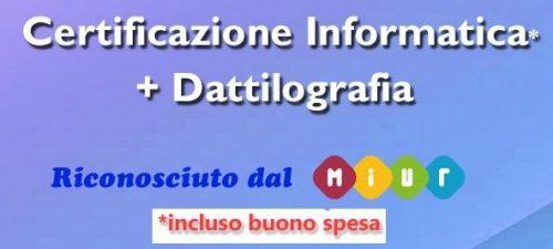 Certificazioni informatiche: offerta in corso!